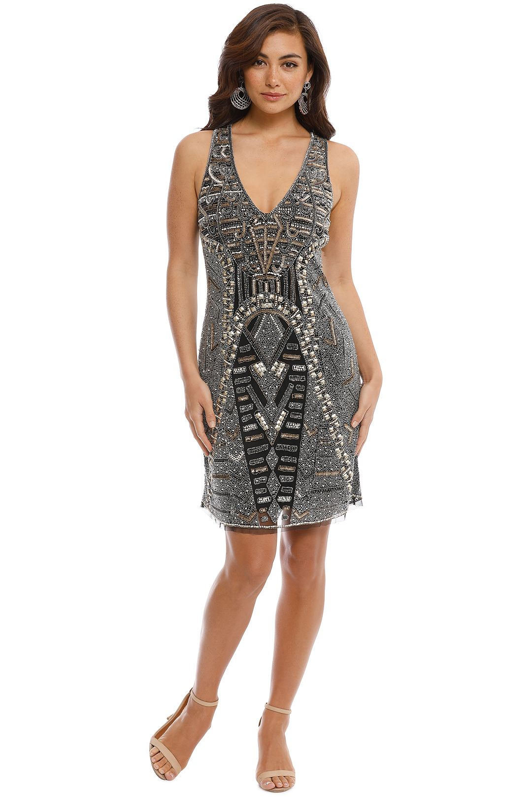 Grace and Blaze - All That Shines Dress - Black - Front
