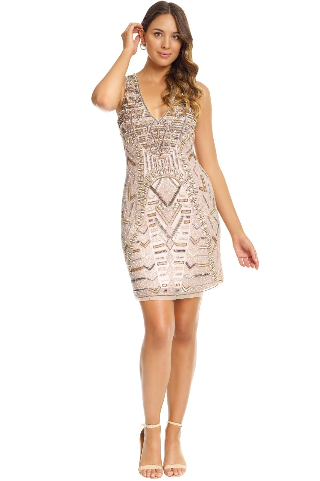 Grace and Blaze - All That Shines Dress - Blush - Front