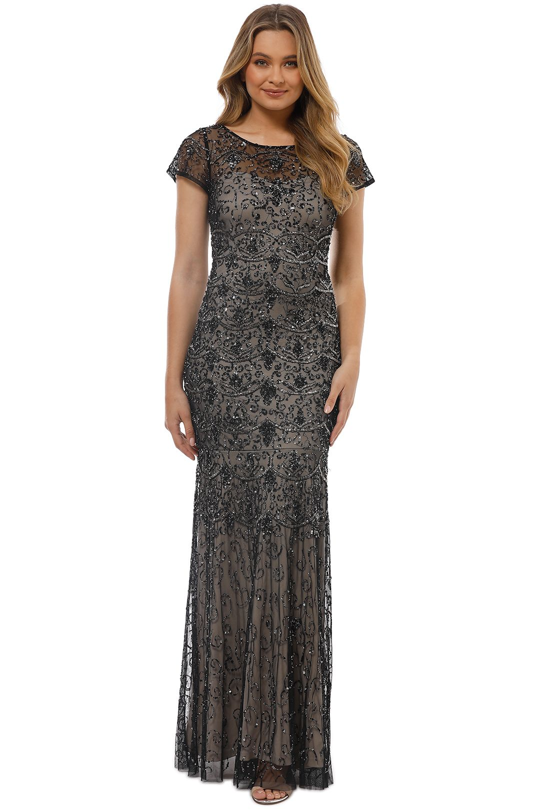 Grace and Blaze - Jennifer Gown - Black - Front
