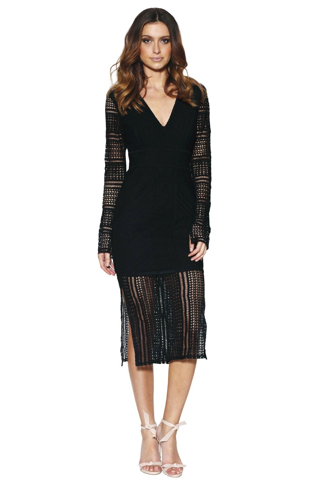 Grace and Hart - Allure Fitted Dress - Black - Front