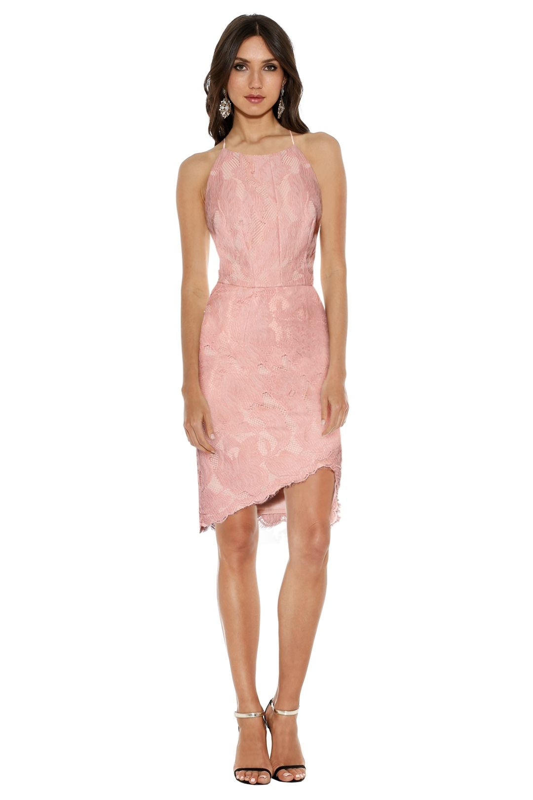 Grace and Hart - Allure Fitted Midi - Dusty Pink - Front
