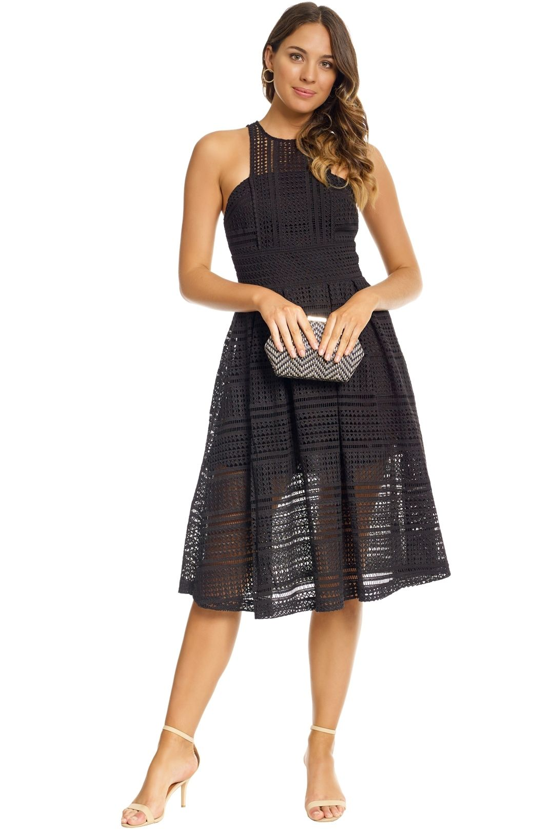 Grace and Hart - Allure Floaty Dress - Black - Front