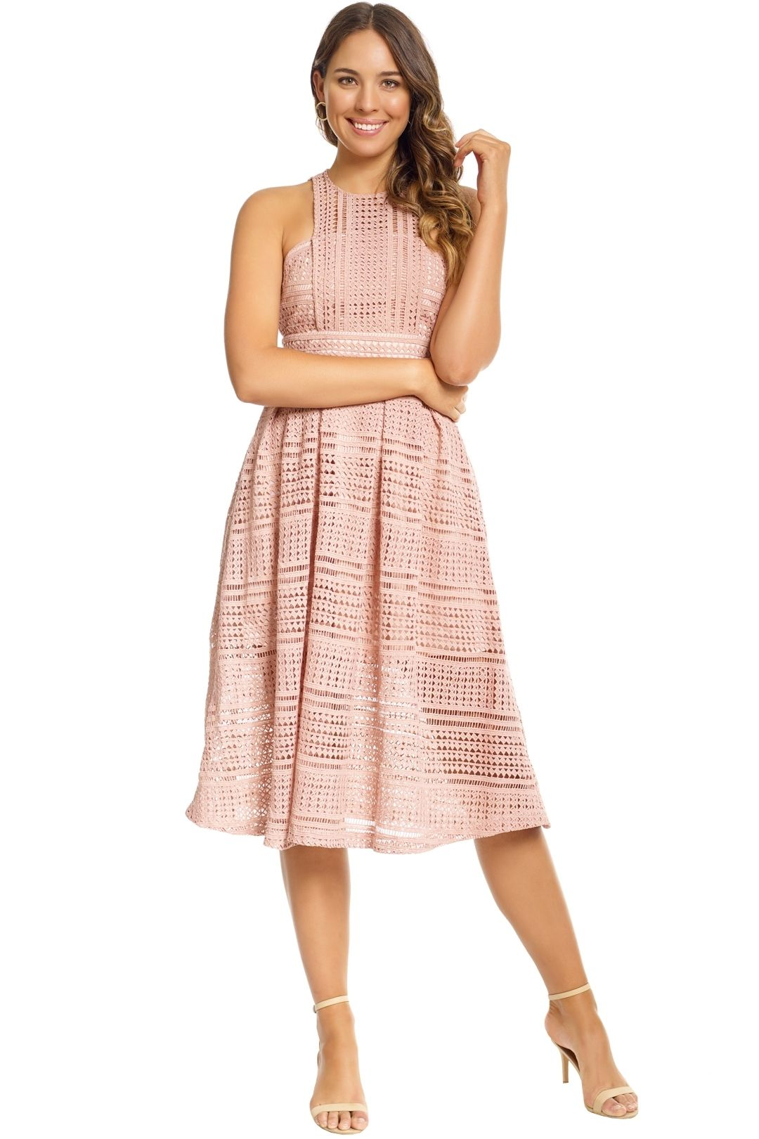 Grace and Hart - Allure Floaty Dress - Blush - Front