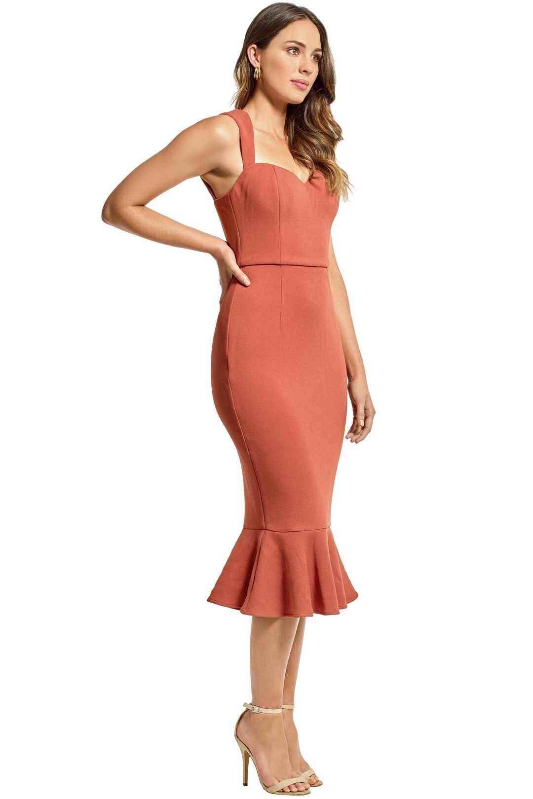 Grace and Hart - Aviary Midi Dress - Copper - Side