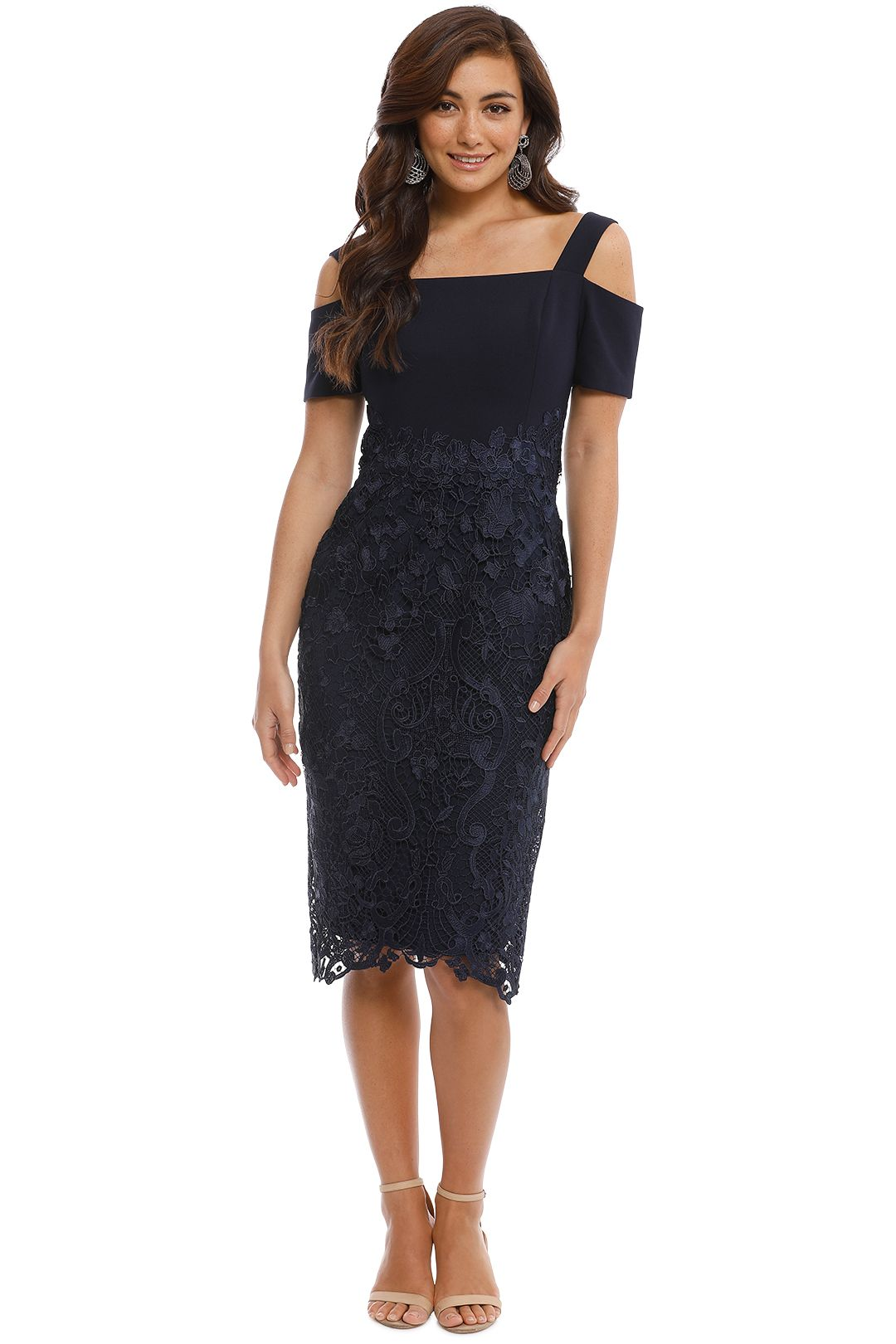 Grace and Hart - Breathless Love Midi - Navy - Front