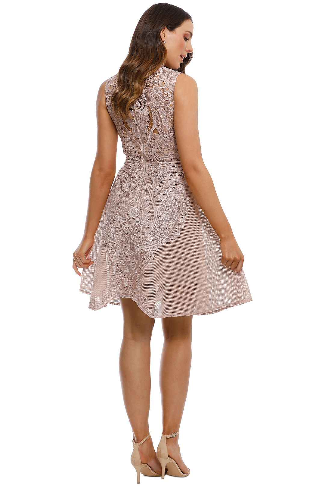 Grace and Hart - Center Stage Flare Midi Dress - Nude - Back