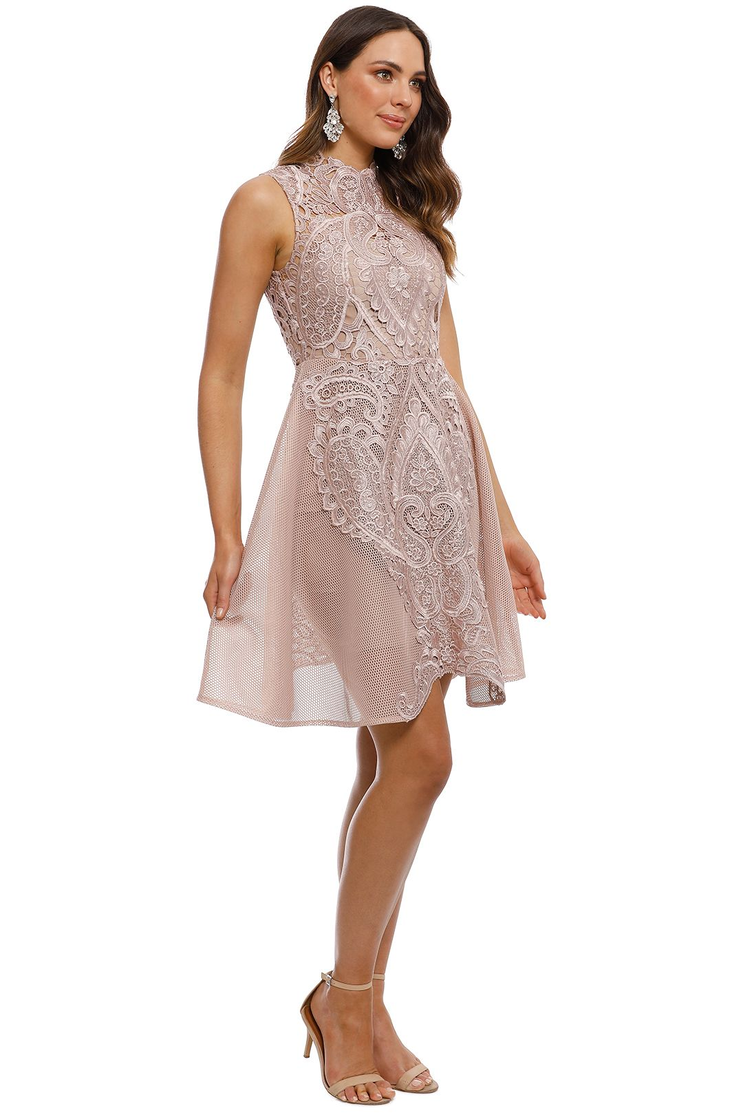 Grace and Hart - Center Stage Flare Midi Dress - Nude - Side