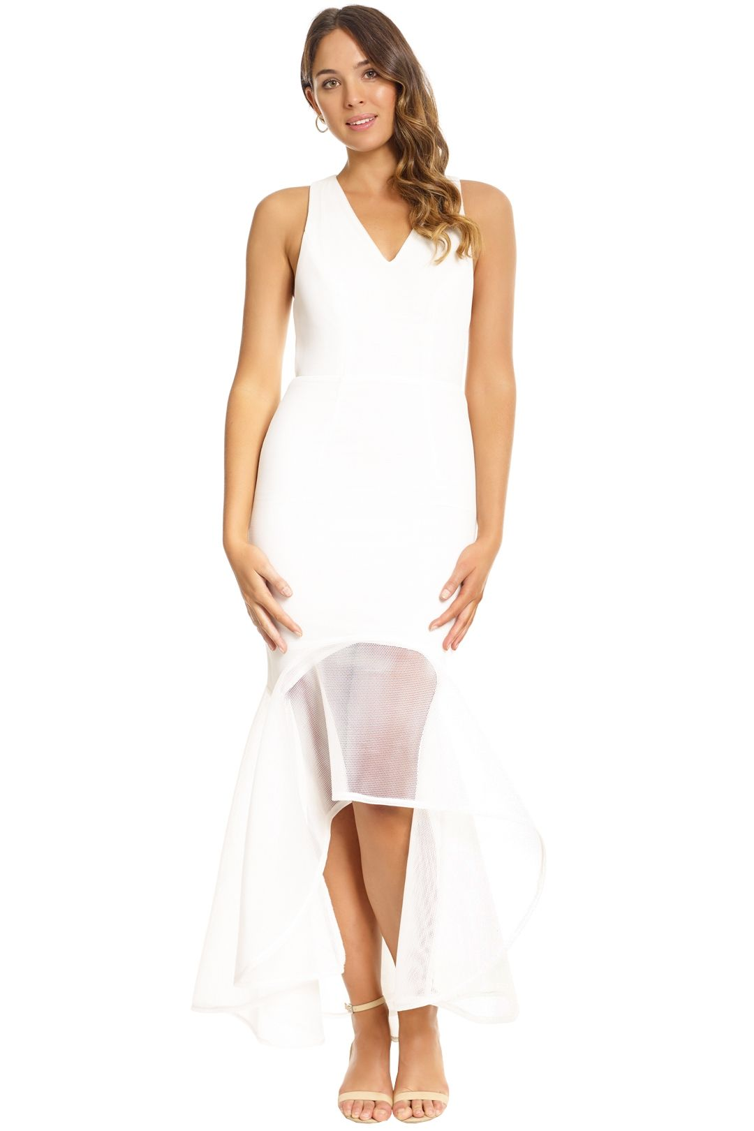 Grace & Hart - Cherry on Top Gown - White - Front