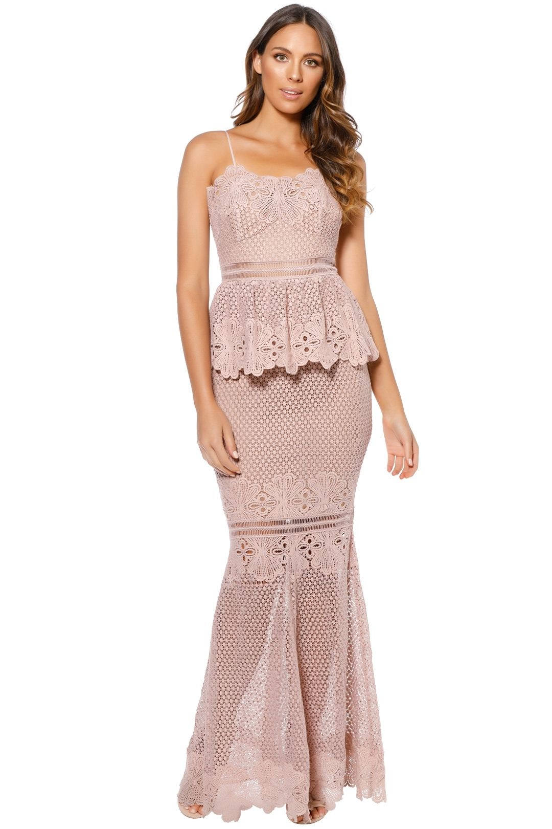 Grace and Hart - Frilling Around Gown - Nude - Front