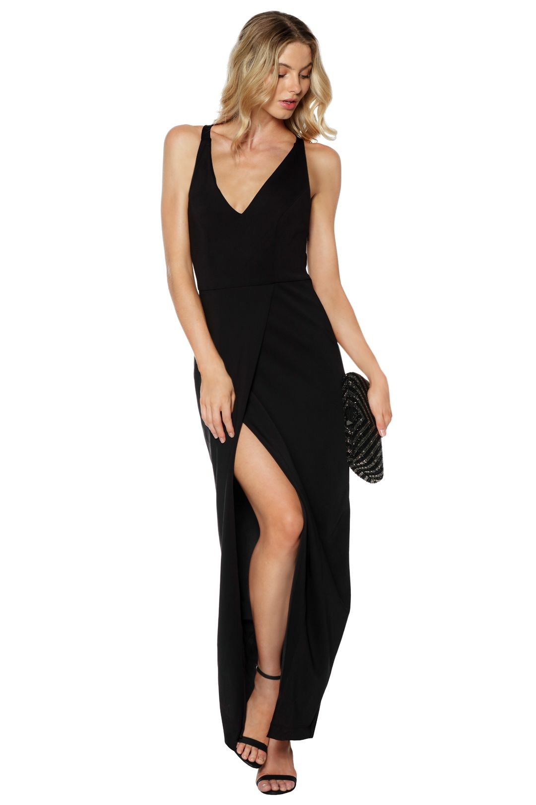 Grace and Hart - Gold Rush Neon Gown - Black -  Front
