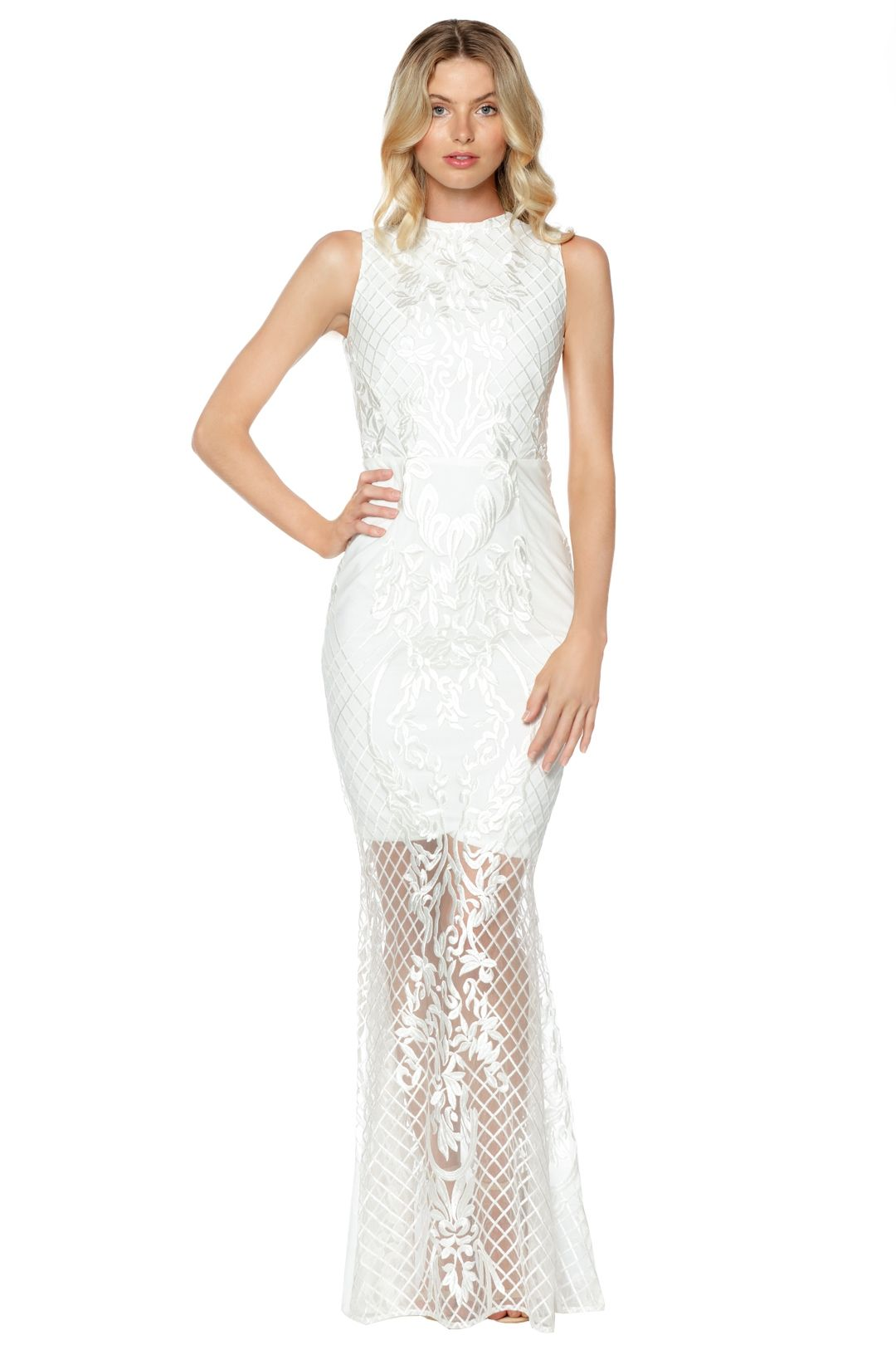 Grace and Hart - Ignite Passion Gown - White - Front