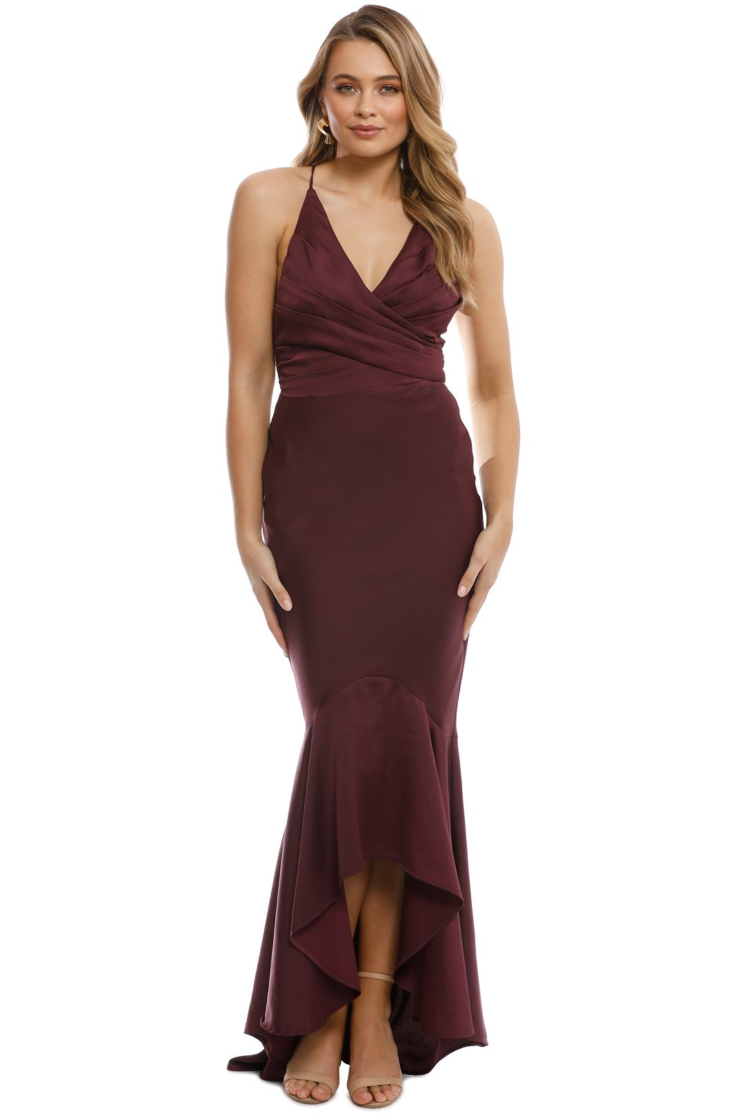 Grace and Hart - Juliets Delight Gown - Wine - Front