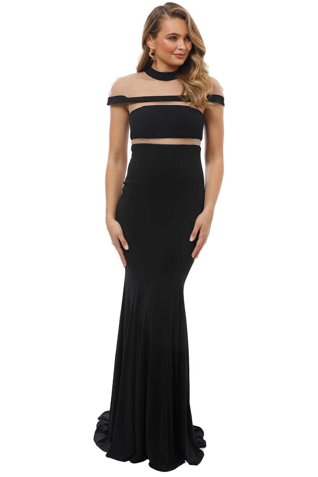 Grace and Hart - Muse Gown - Black - Front