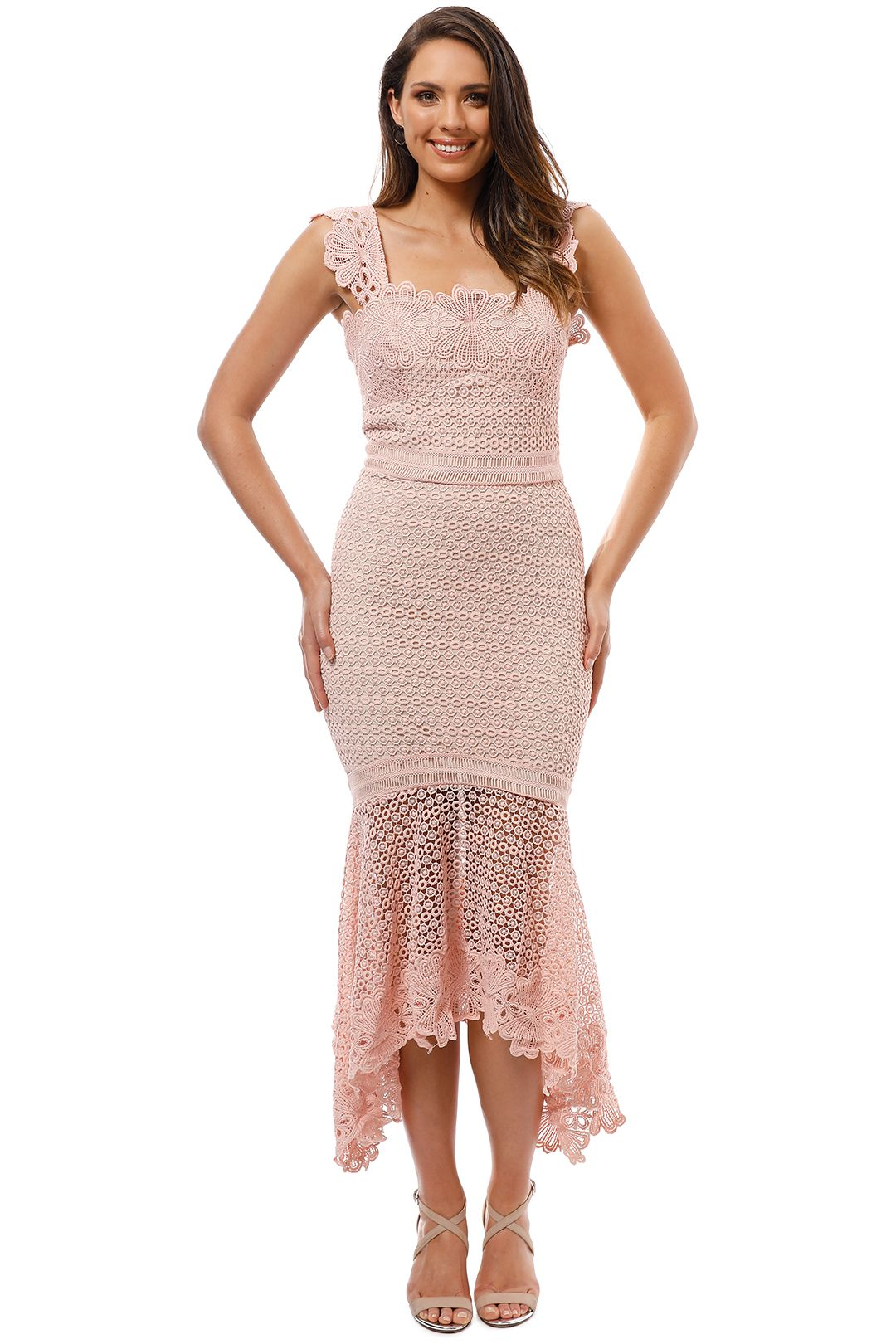 Grace and Hart - Paradiso Midi Dress - Rose - Front