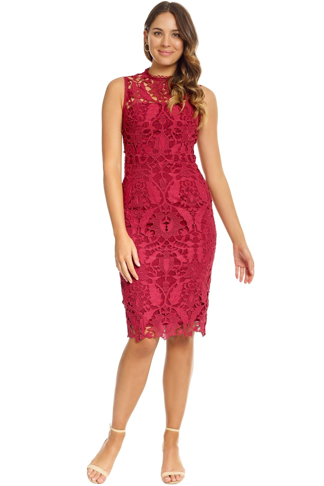 Grace and Hart - Prosecco Dress - Red - Front