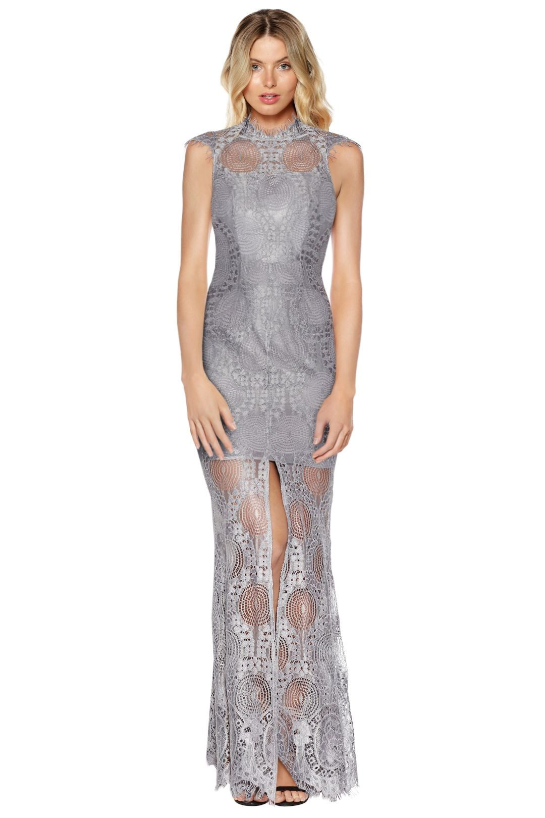 Grace and Hart - Queen Bee Gown - Grey - Front