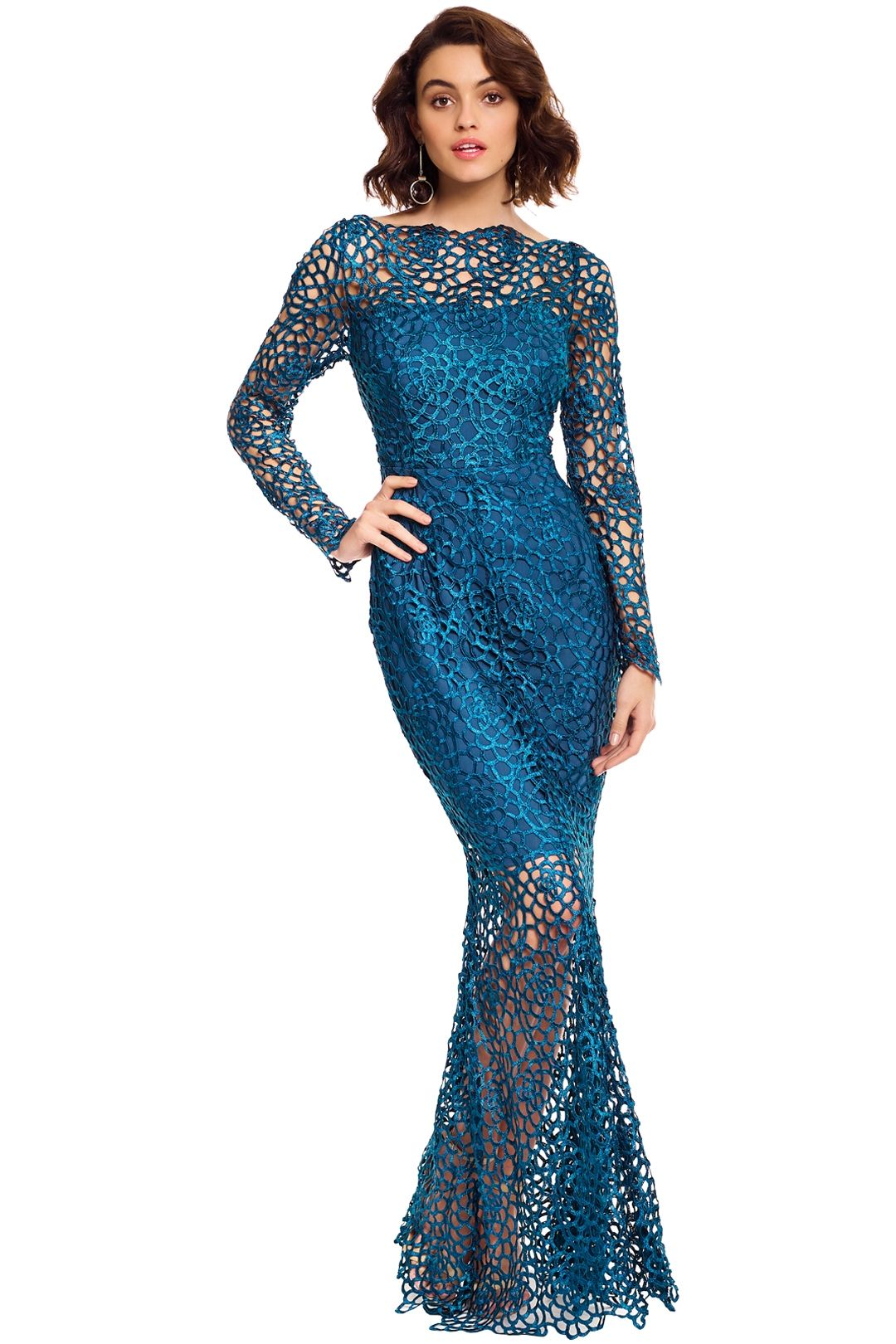 Grace and Hart - Scandal Gown - Teal - Front