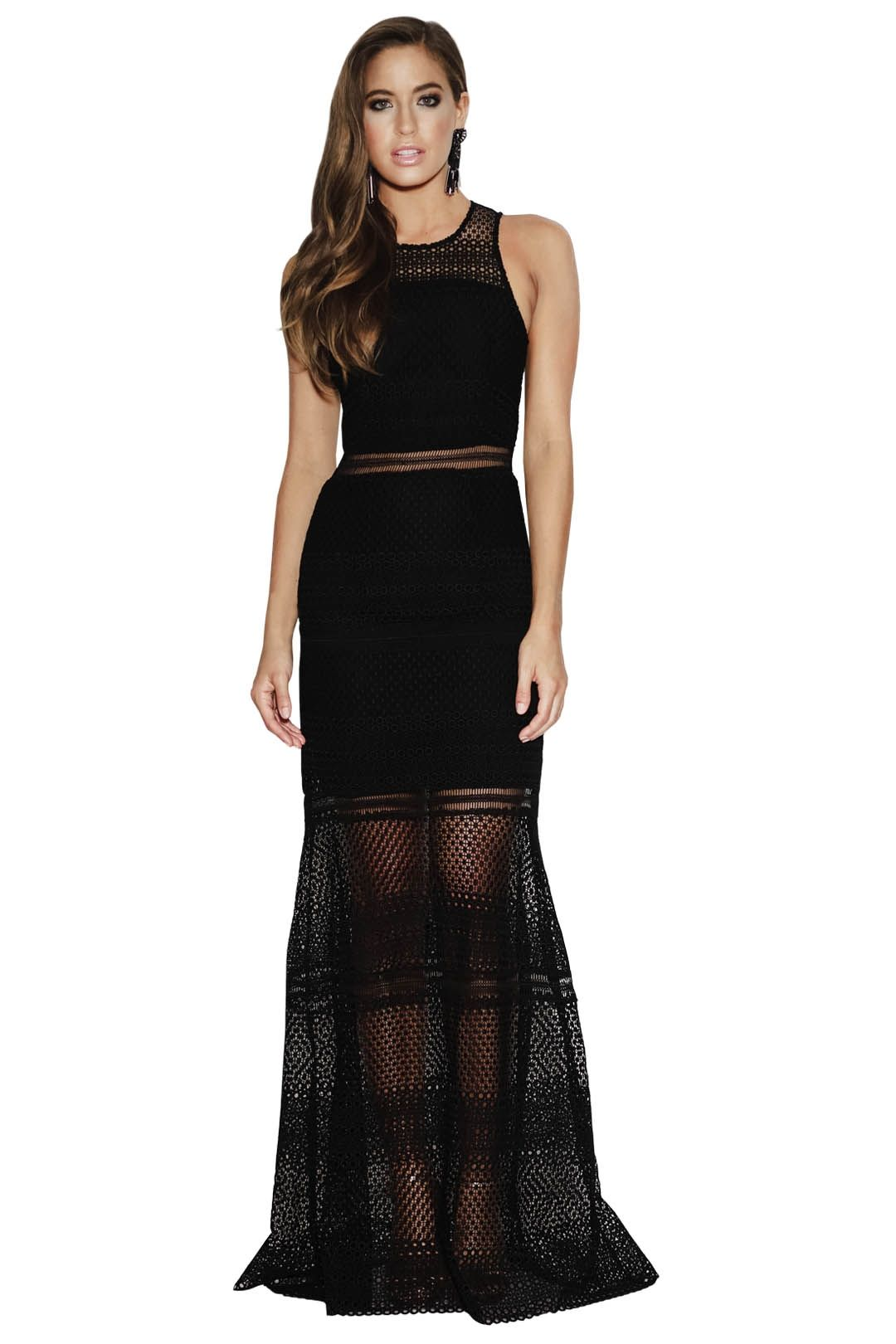 Grace and Hart - Show Me Up Gown - Black - Front