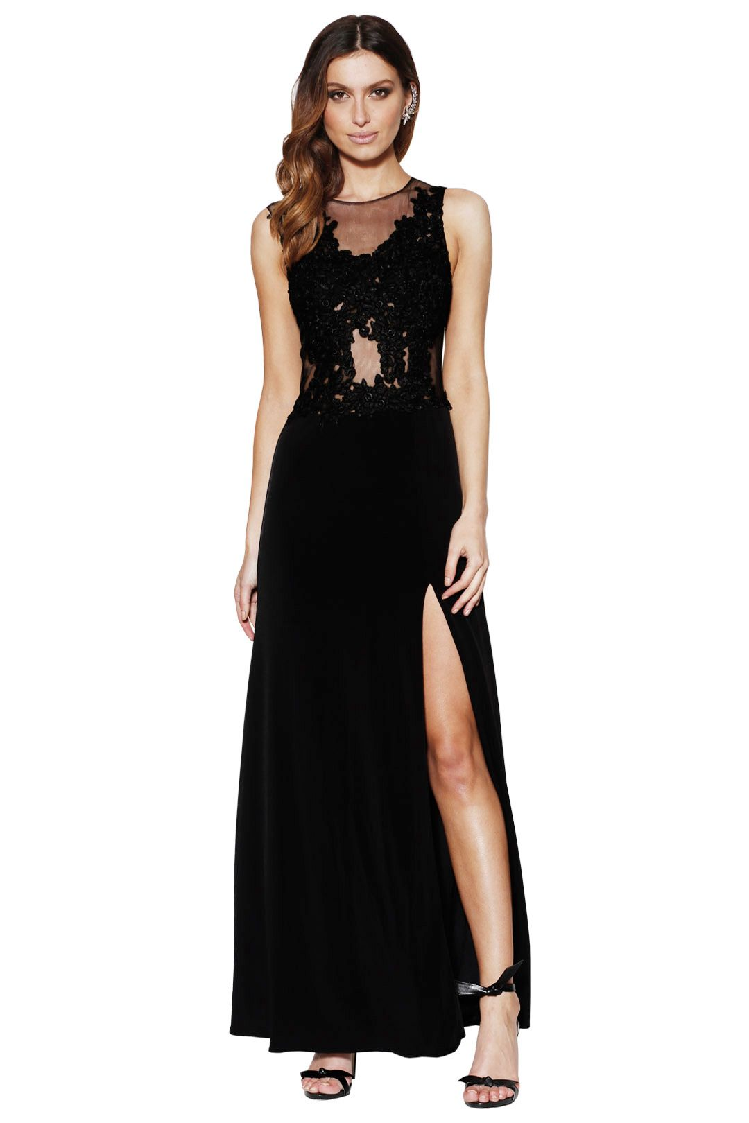 Grace and Hart - Starlet Gown Black - Front
