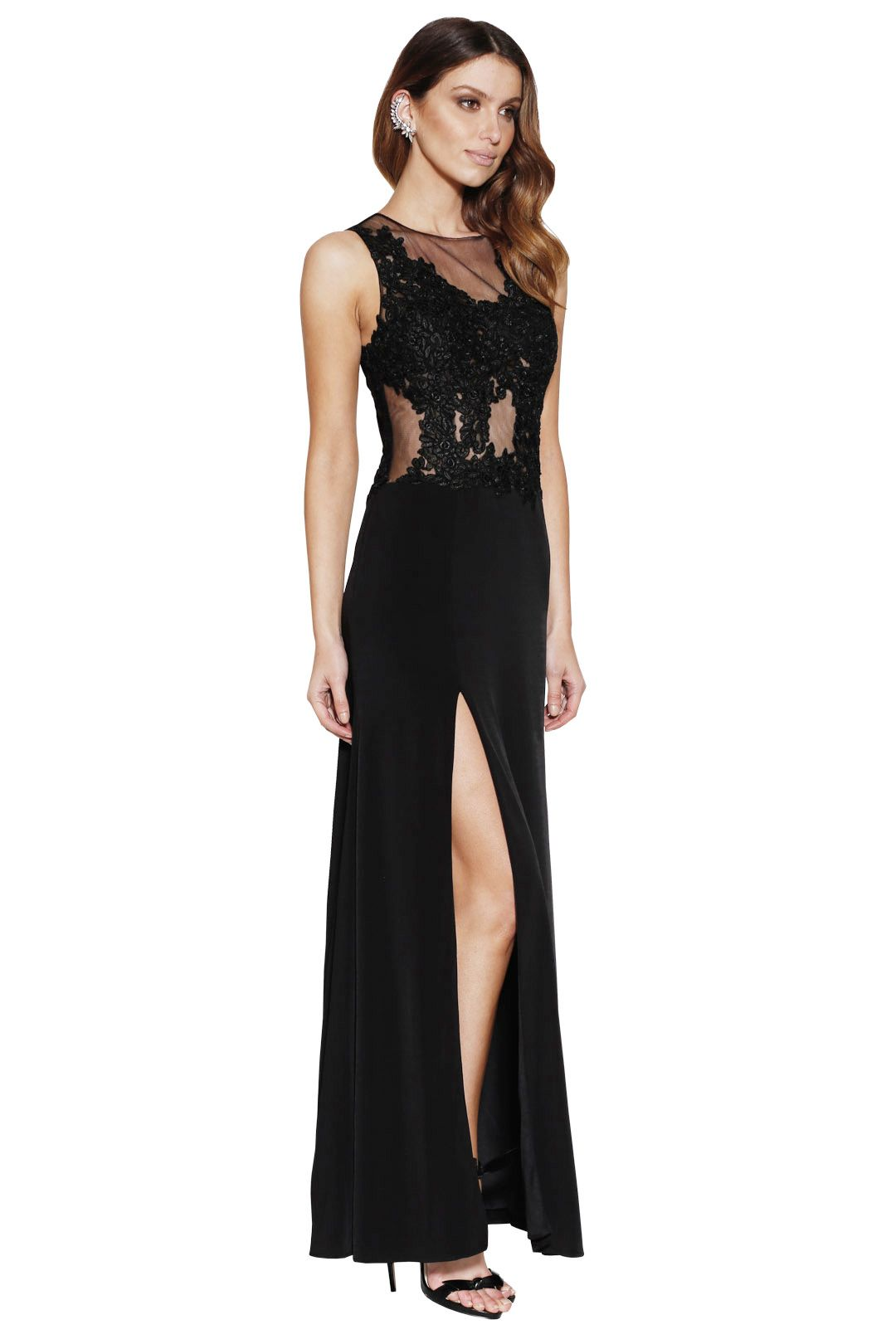 Grace and Hart - Starlet Gown Black - Side