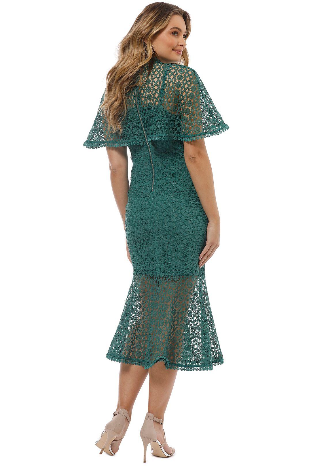 Grace and Hart - Dentelle Midi Dress - Pine - Back