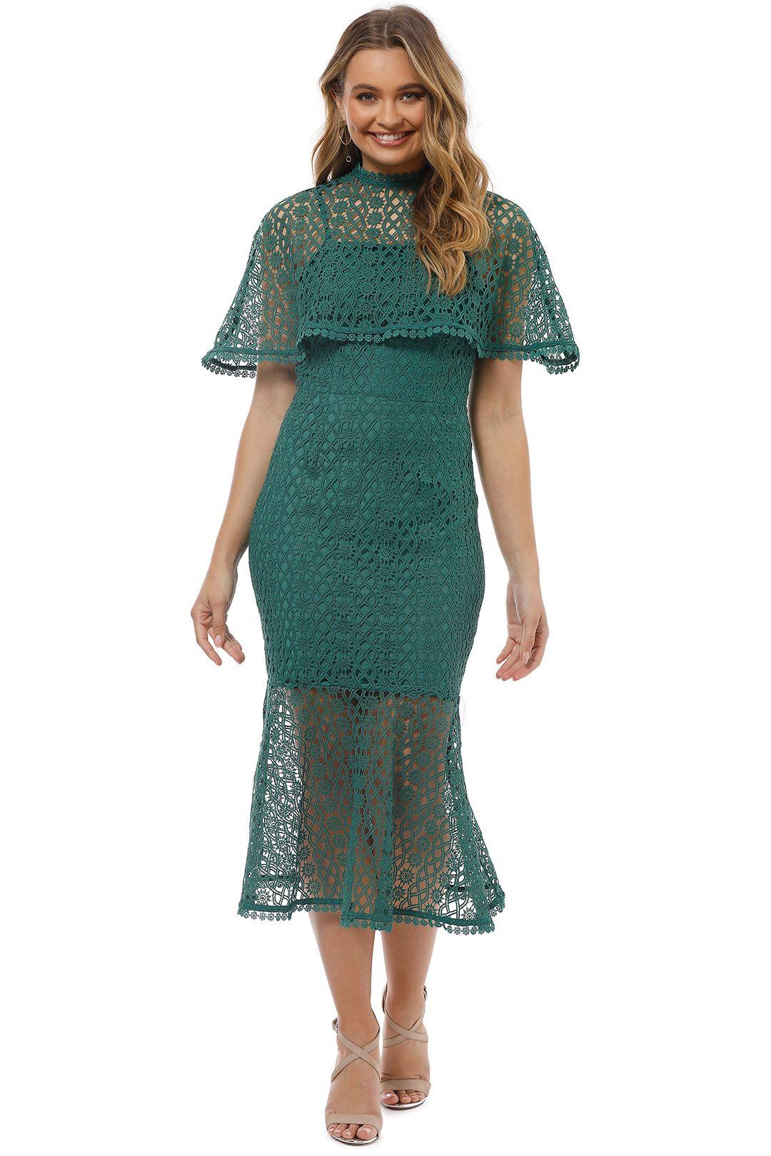 Grace and Hart - Dentelle Midi Dress - Pine - Front