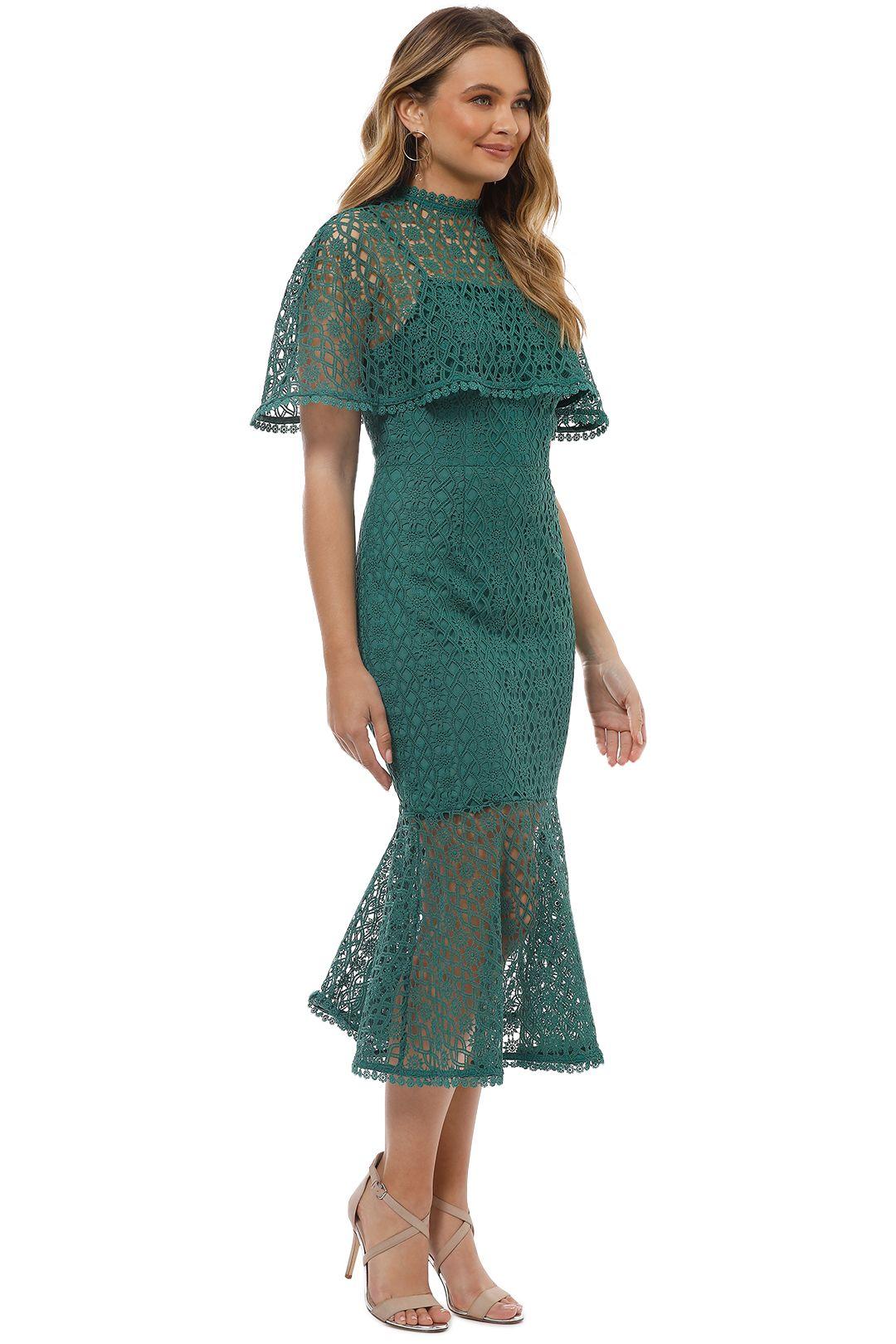Grace and Hart - Dentelle Midi Dress - Pine - Side