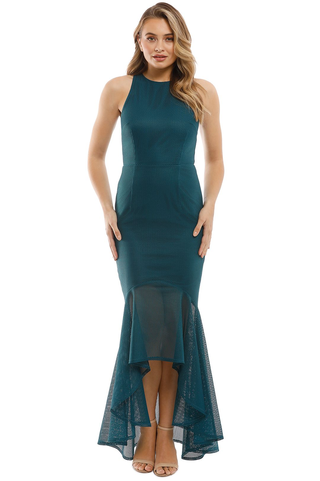 Grace & Hart - Stand Alone Gown - Teal - Front