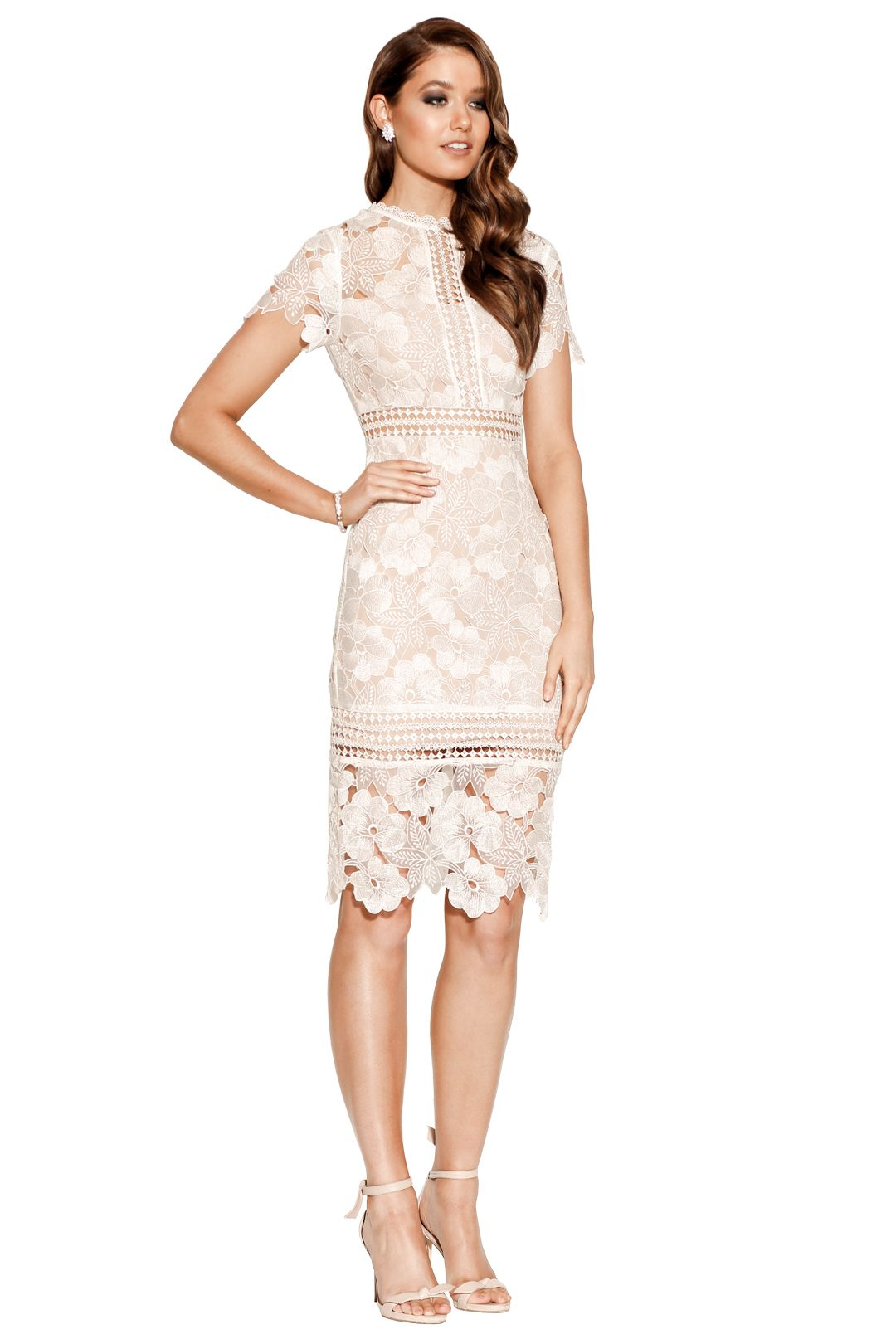 Grace & Hart - Serene Fitted Midi - Ivory - Side