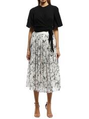 Grace Willow - Adeline Skirt - Stranger - Black and White - Front