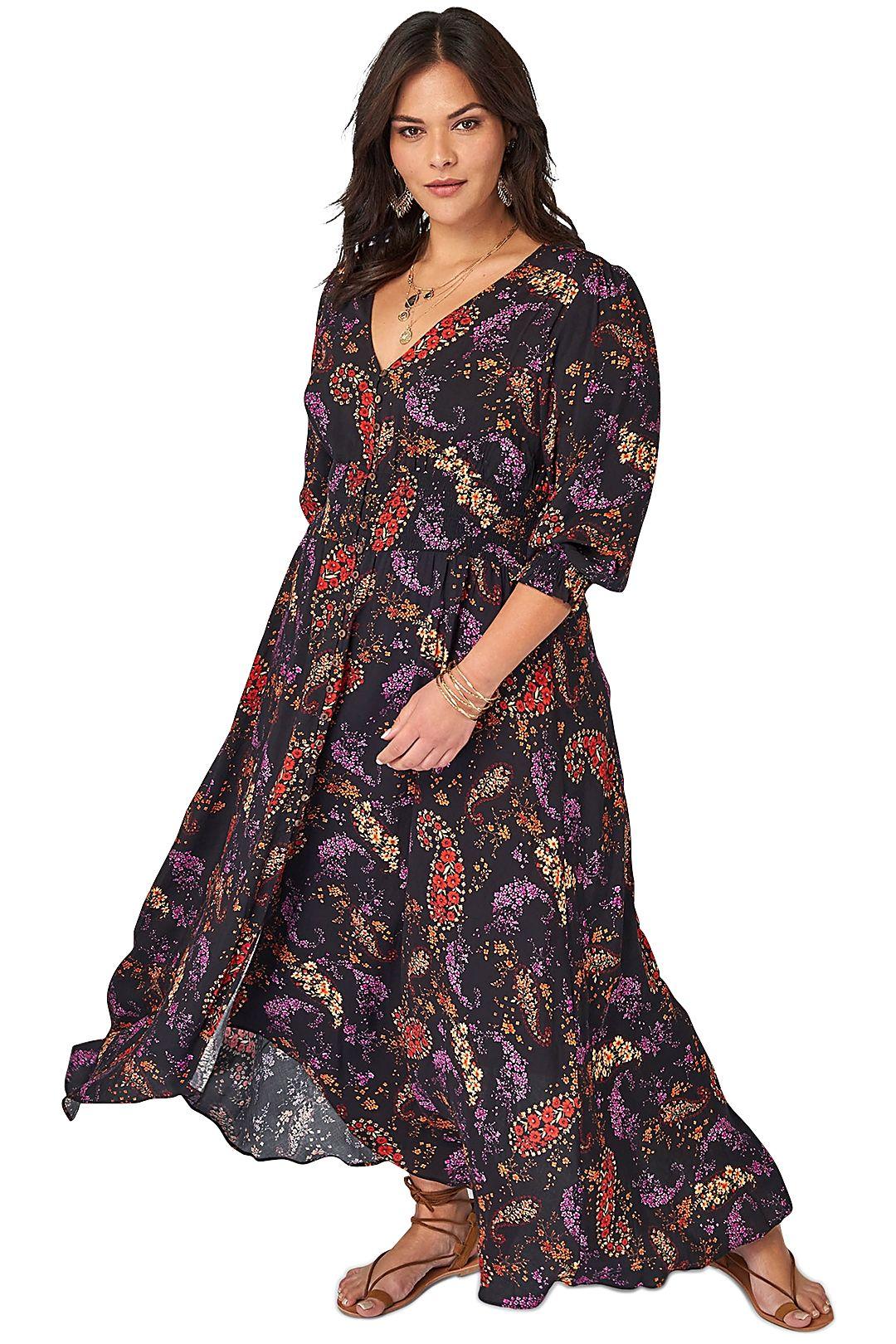 The Poetic Gypsy Gypsy Child Maxi Dress Print Multi