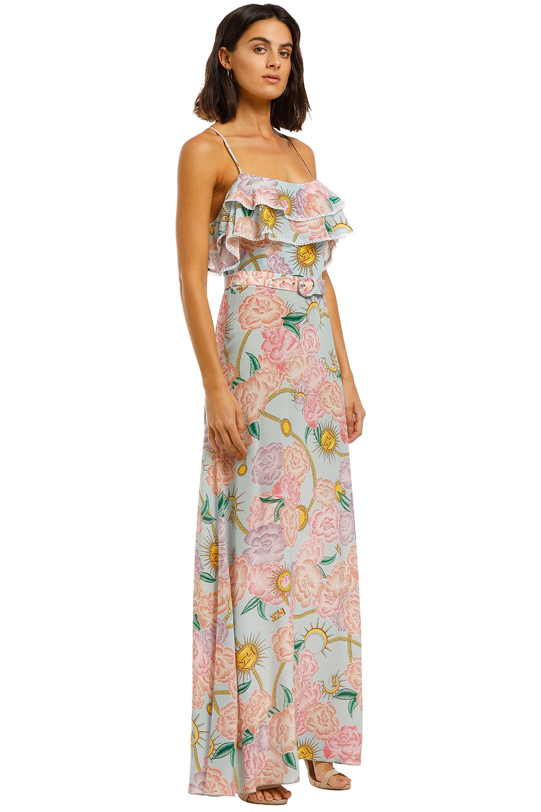 Hayley-Menzies-Maxi-Frill-Dress-Floral-Print-Side