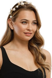 Heather McDowall - Annabelle Headpiece - Gold Pearl - Product
