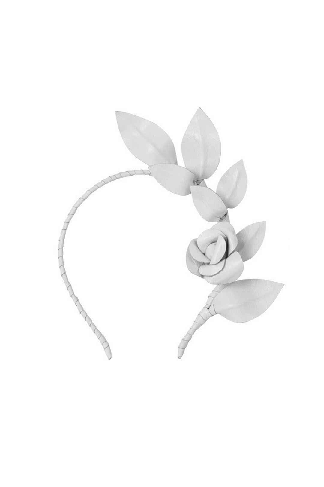 Heather McDowall - Olive Fascinator - White - Front