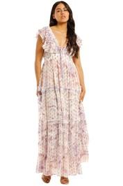 Hemant-Nandita-Vivir-Long-Midi-Dress-Print-Front