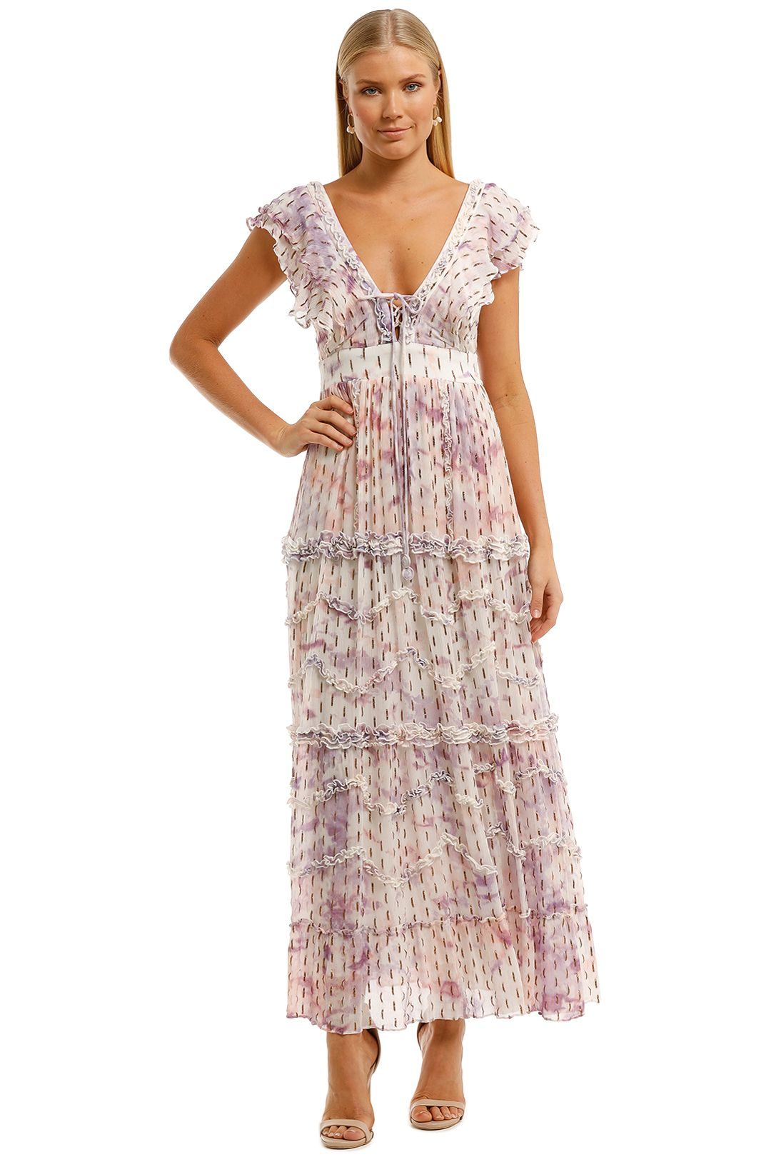 Hemant-Nandita-Vivir-Long-Midi-Dress-Print-Front