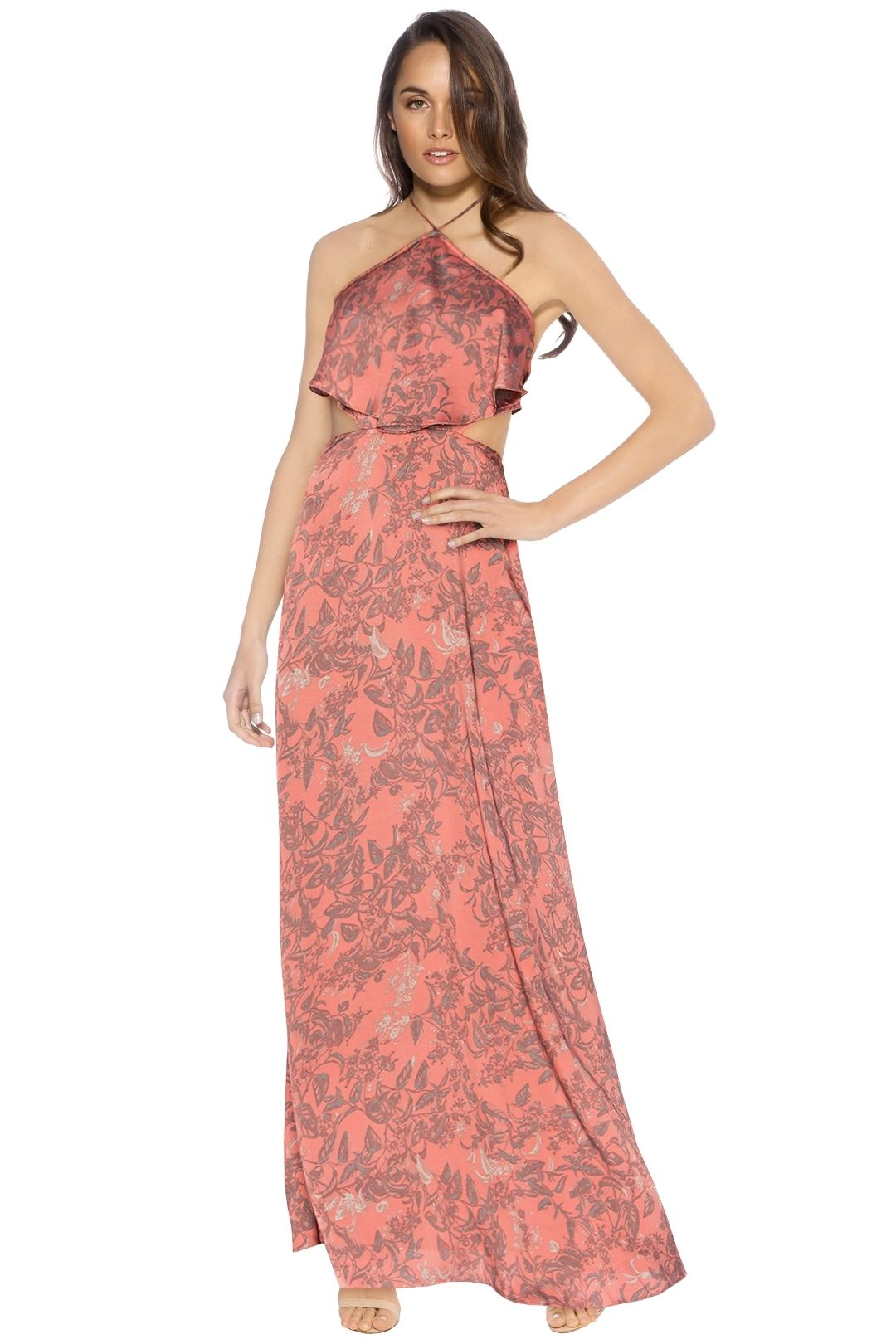 House of Harlow - Zoe Halter Dress - Pink - Front