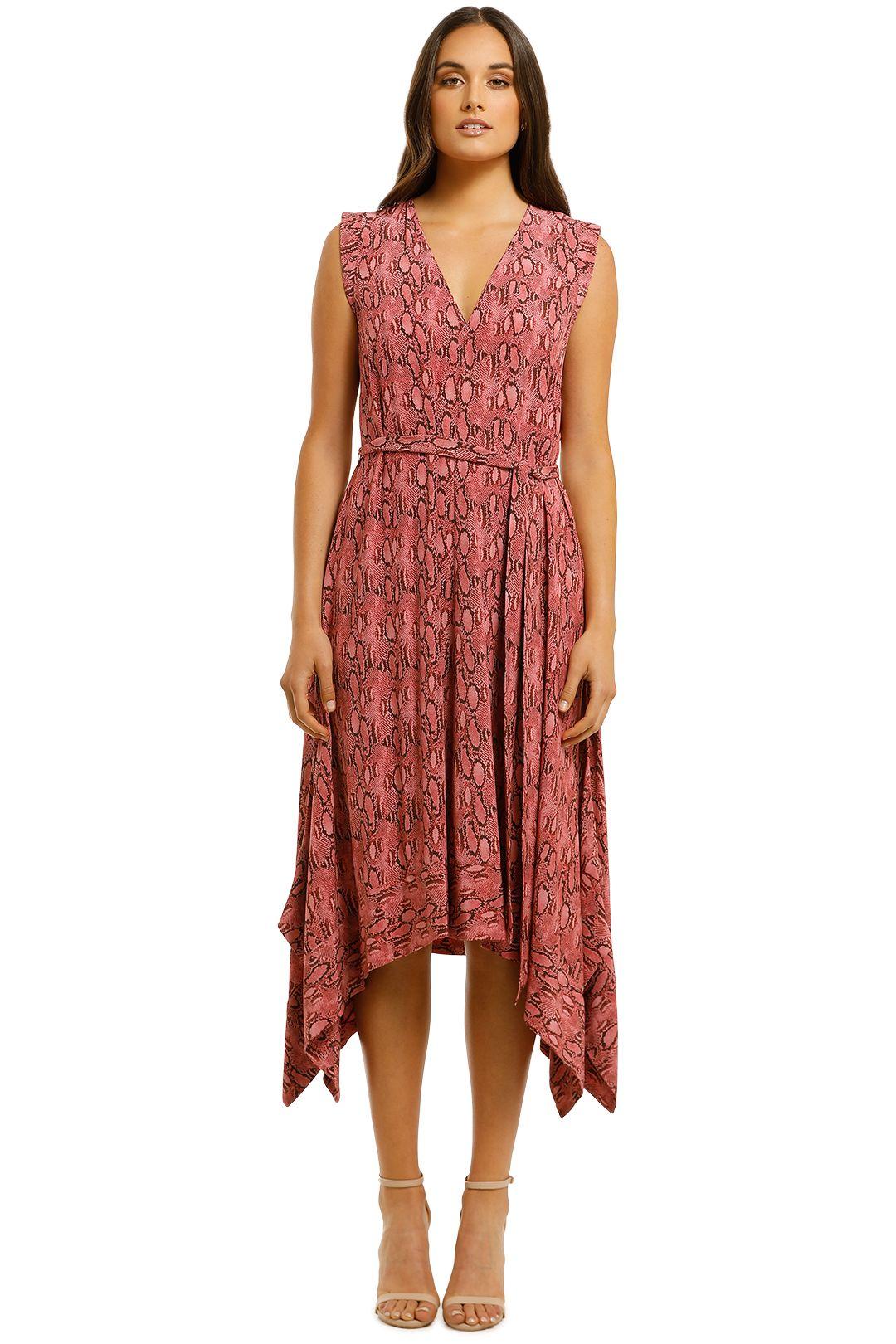 Husk-Caribbean-Dress-Pink-Snake-Front
