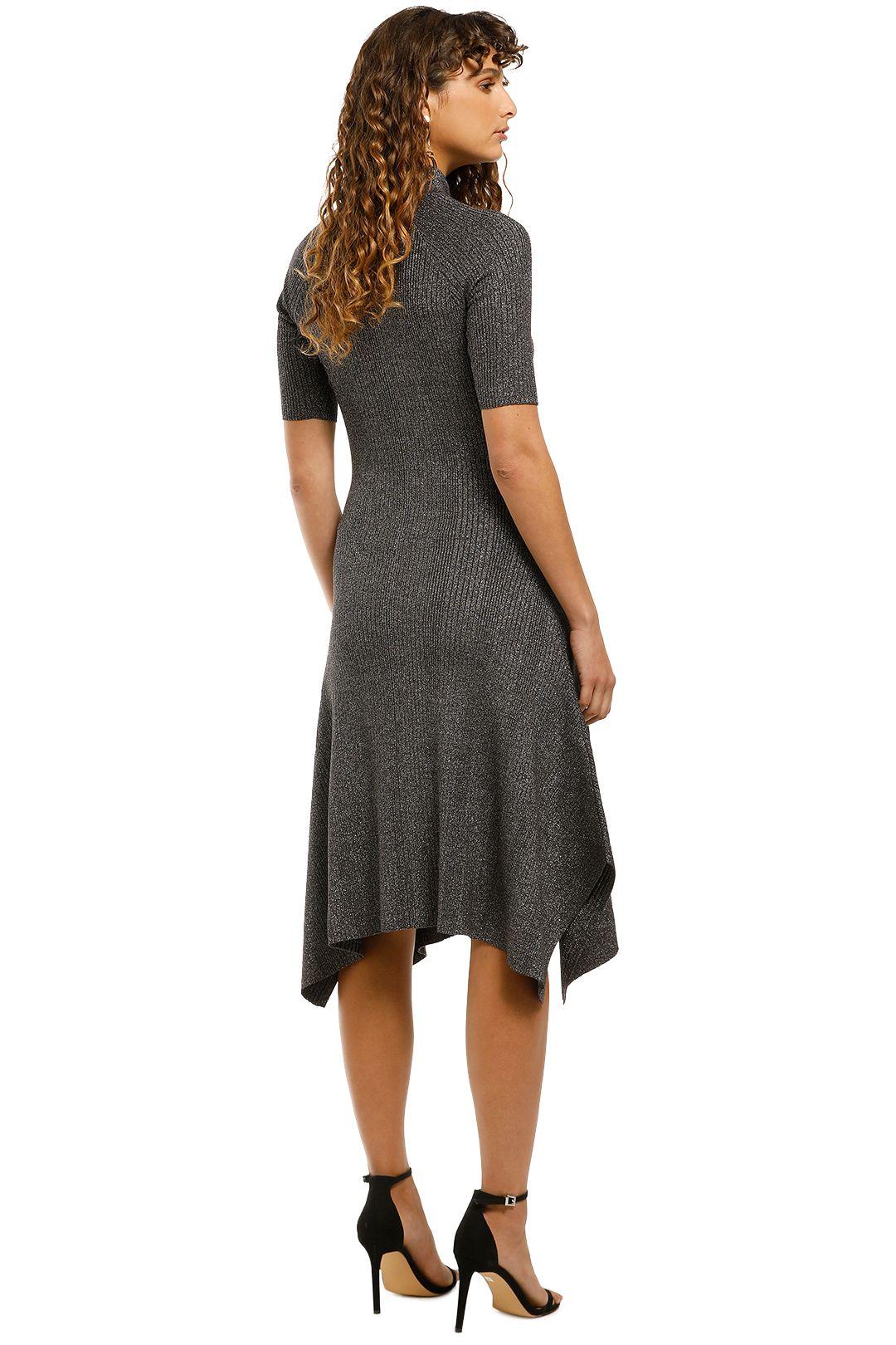 Husk-Glitter-Knit-Dress-Grey-Back