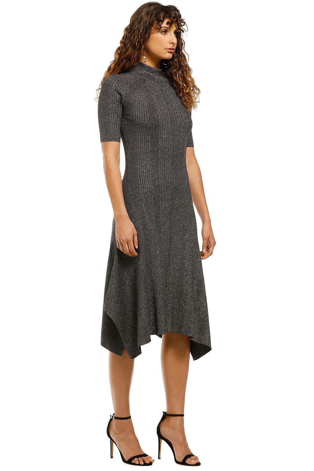 Husk-Glitter-Knit-Dress-Grey-Side