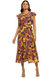 Husk-Tropicana-Dress-Yellow-Pineapple-Front