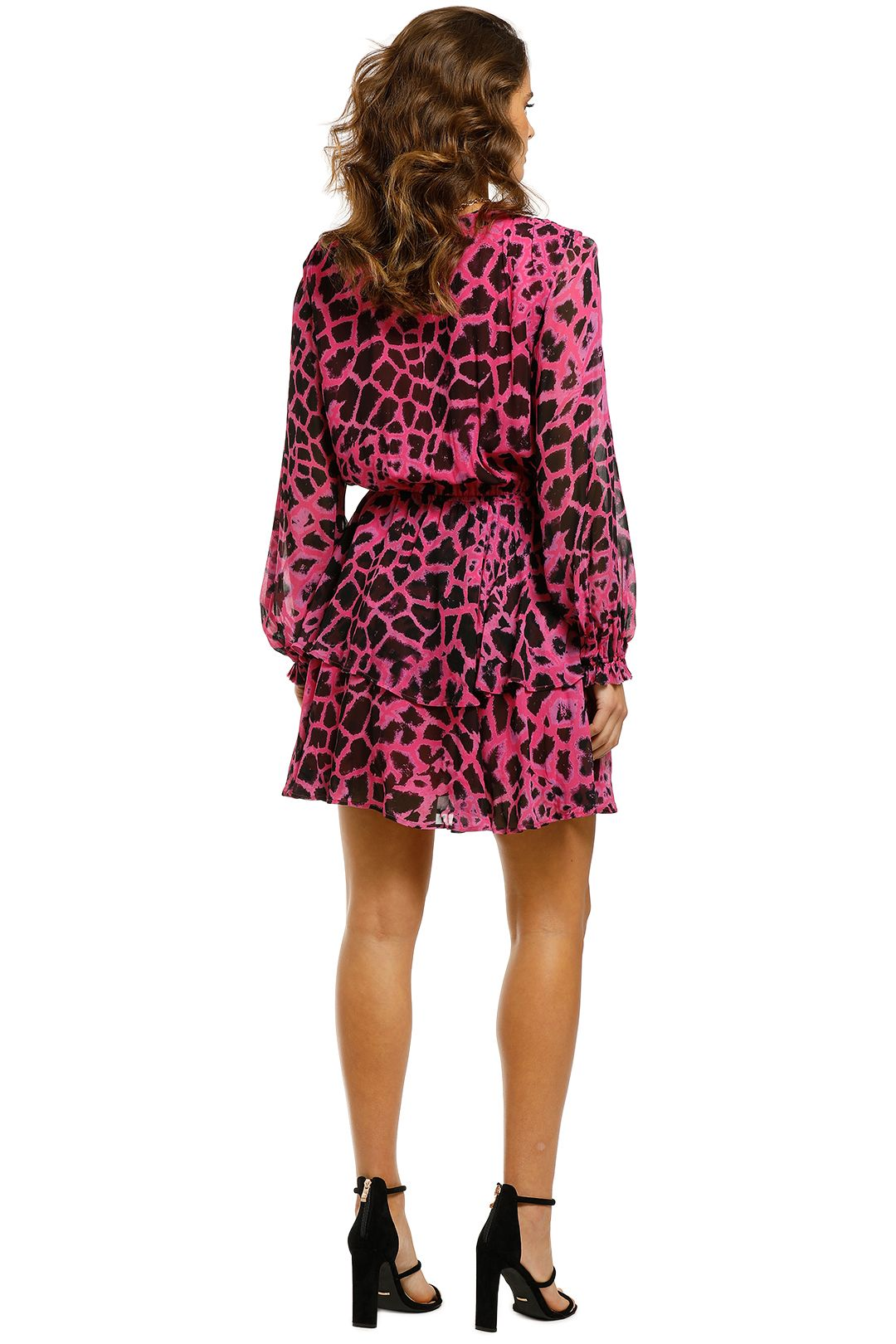 Husk-Zirafa-Dress-Pink-Giraffe-Back