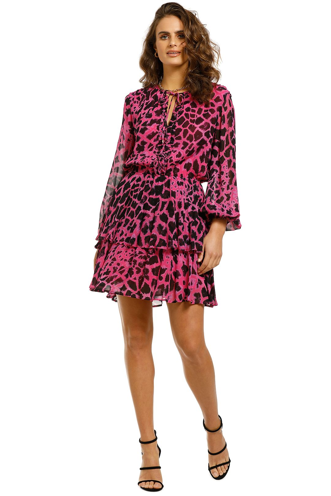 Husk-Zirafa-Dress-Pink-Giraffe-Front