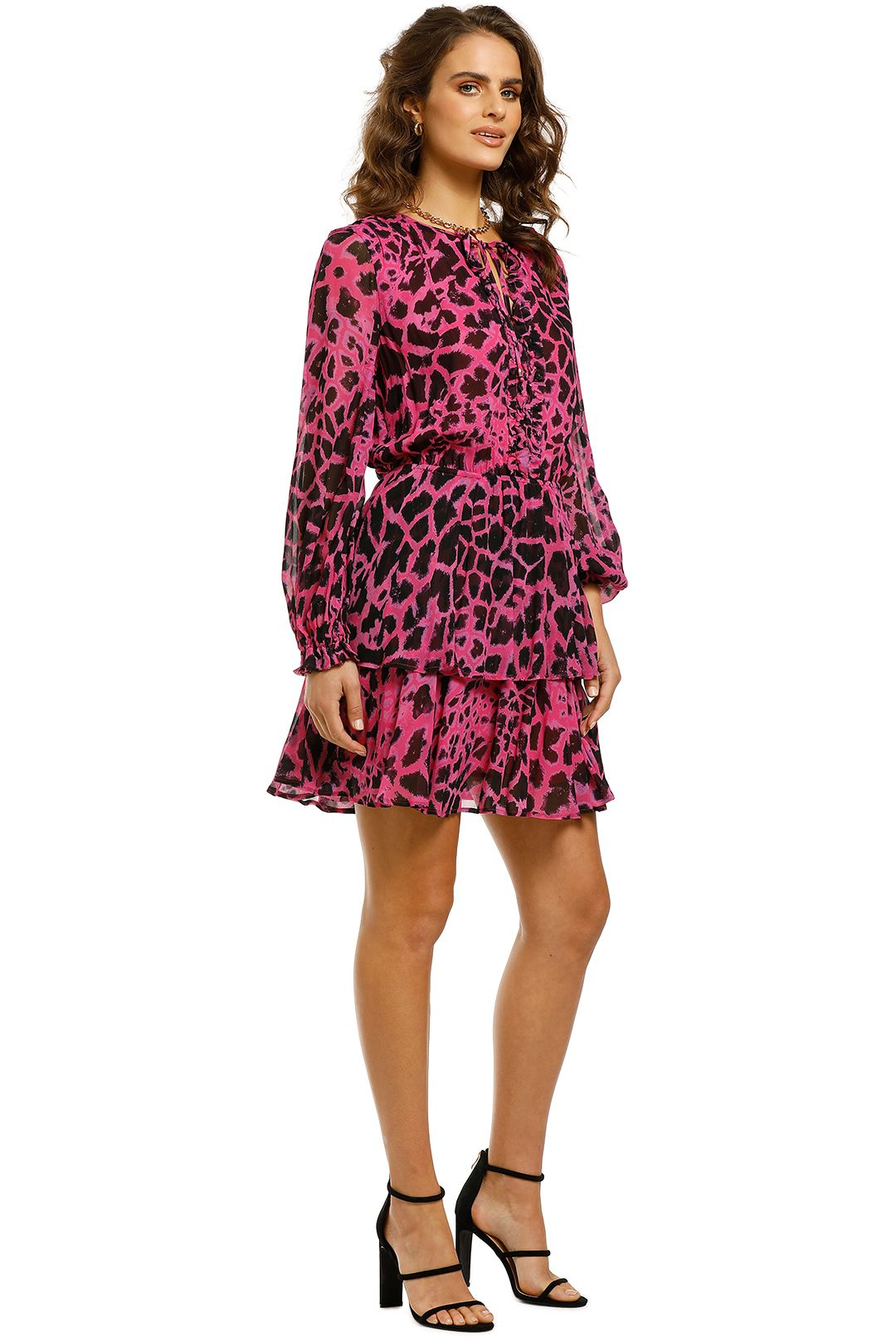 Husk-Zirafa-Dress-Pink-Giraffe-Side