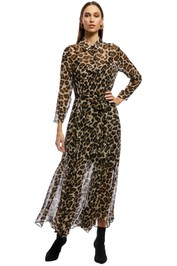 Husk - Aria Dress - Leopard Print - Brown - Front