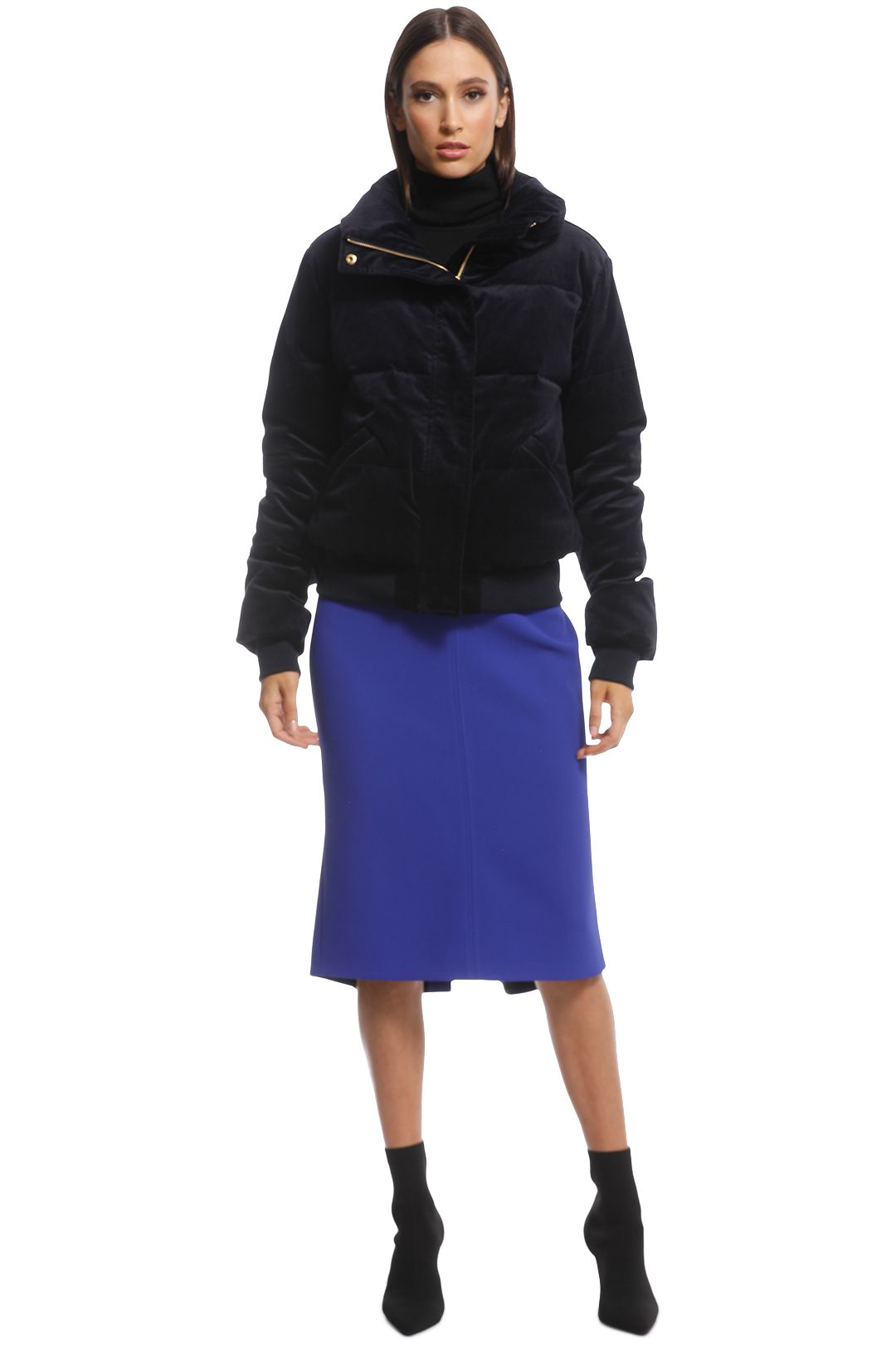 Husk - Talitha Puffer - Navy - Front Closed