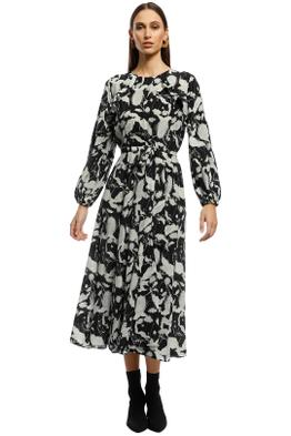 Husk - Utopia Dress - Black Floral - Front