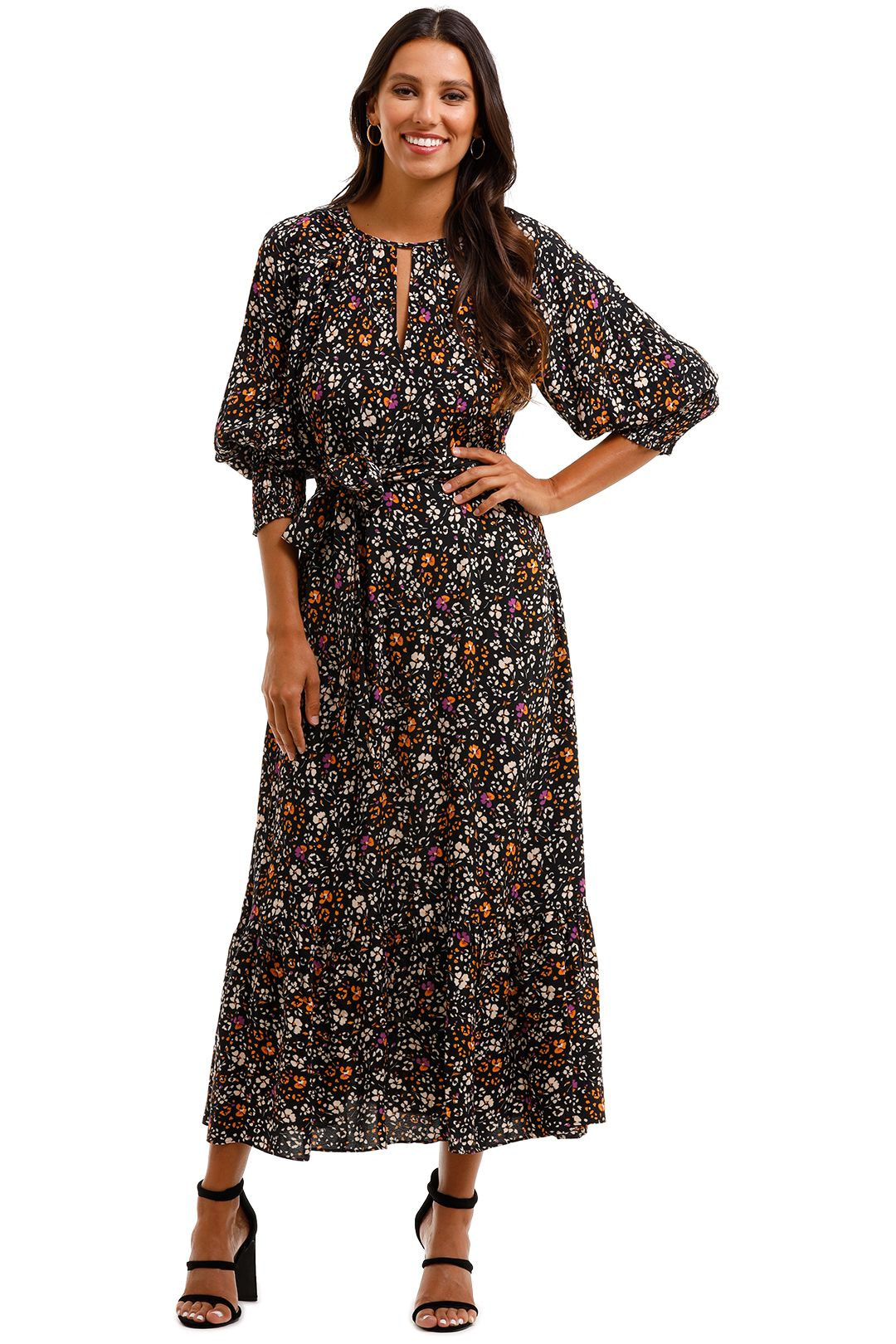 Husk Carnaby Dress Print Midi Dress