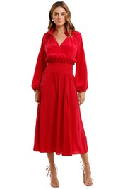 Husk Fortress Dress Raspberry Red