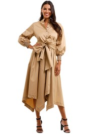 Husk Latin Dress Camel Shirt Dress